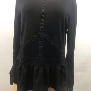 WHITE HOUSE BLACK MARKET stylish  black blouse